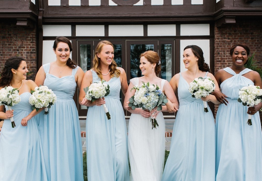 Larchmont Shore Club bridesmaids