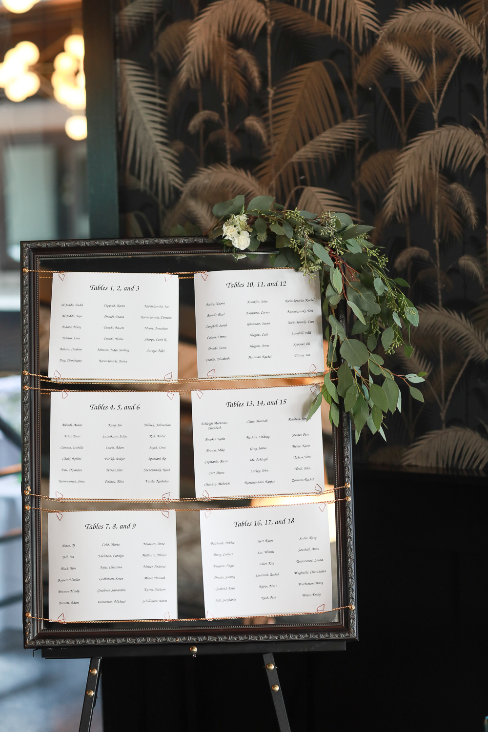 Table numbers and seating chart displayed t a wedding - 501 Union Wedding Photos in Brooklyn - Luna & Tom's Wedding