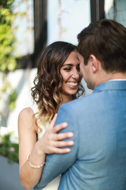 Bride and groom embrace before their wedding -501 Union Wedding Photos in Brooklyn - Luna & Tom's Wedding
