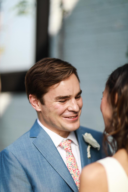 A groom looking at his bride on their wedding day -501 Union Wedding Photos in Brooklyn - Luna & Tom's Wedding