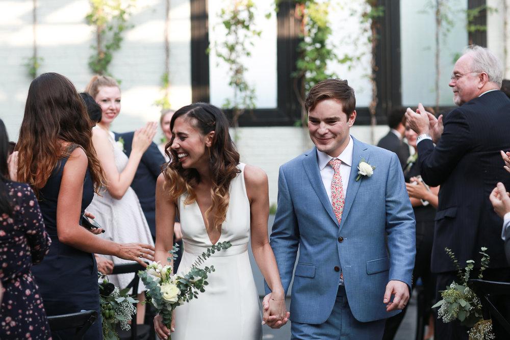 Bride and groom just married - 501 Union Wedding Photos in Brooklyn - Luna & Tom's Wedding