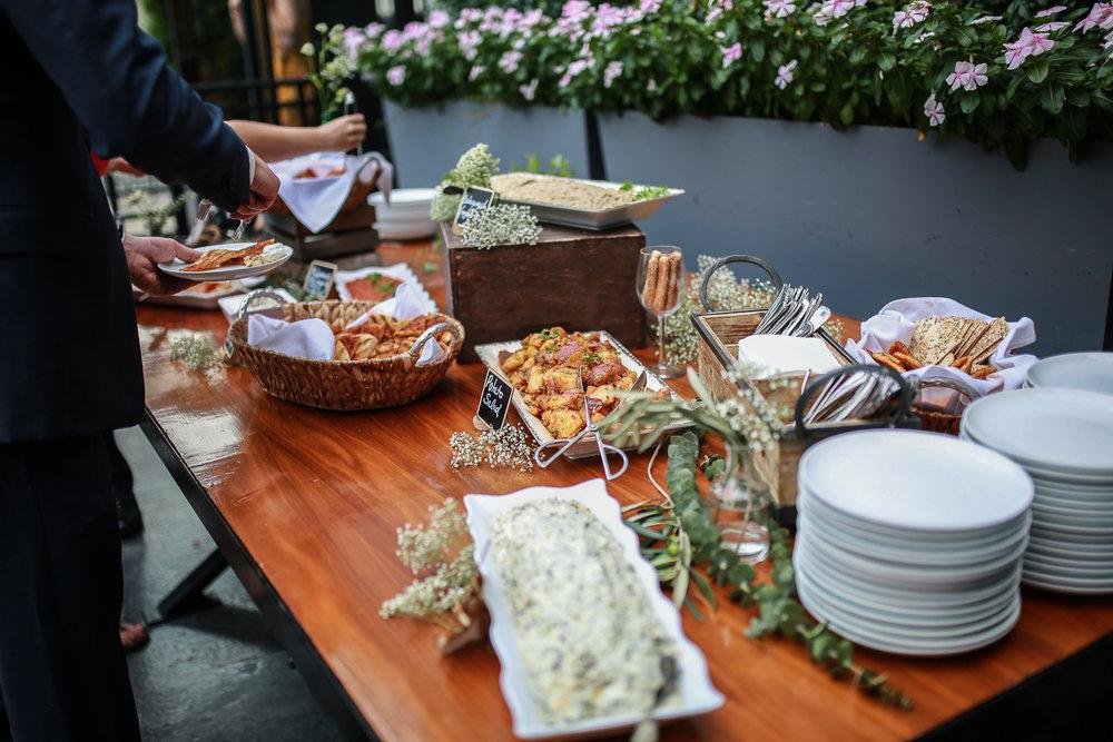 Middle Eastern food at a Brooklyn wedding -501 Union Wedding Photos in Brooklyn - Luna & Tom's Wedding