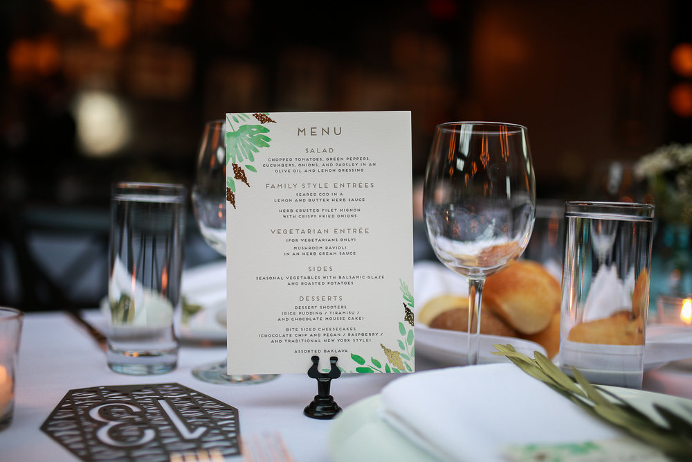 Wedding dinner menu - 501 Union Wedding Photos in Brooklyn - Luna & Tom's Wedding