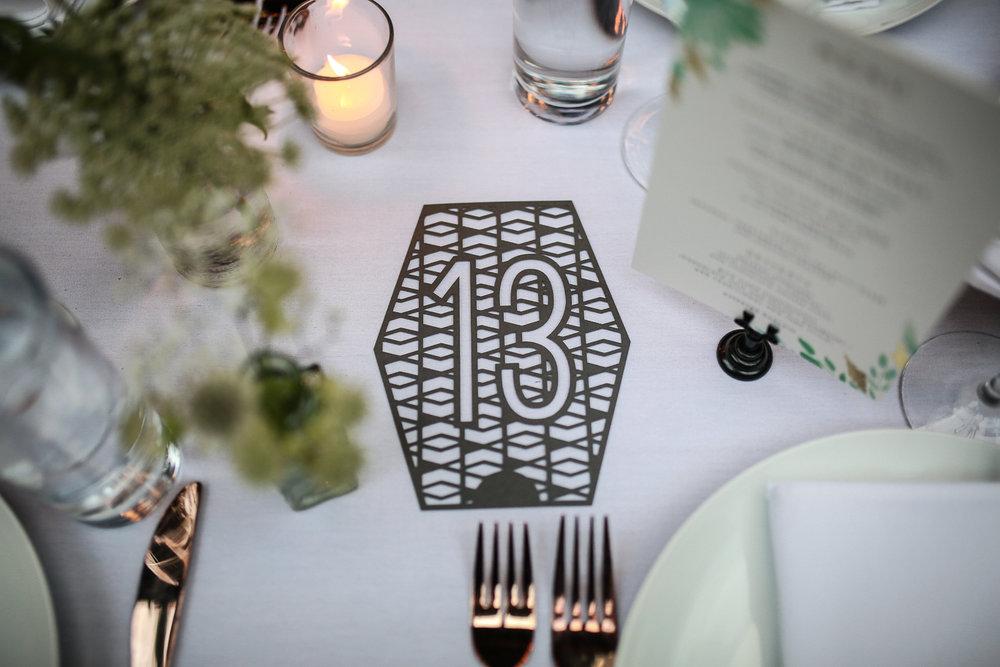 Wedding table number -501 Union Wedding Photos in Brooklyn - Luna & Tom's Wedding