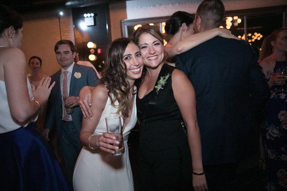 Bride and her bridesmaid -501 Union Wedding Photos in Brooklyn - Luna & Tom's Wedding