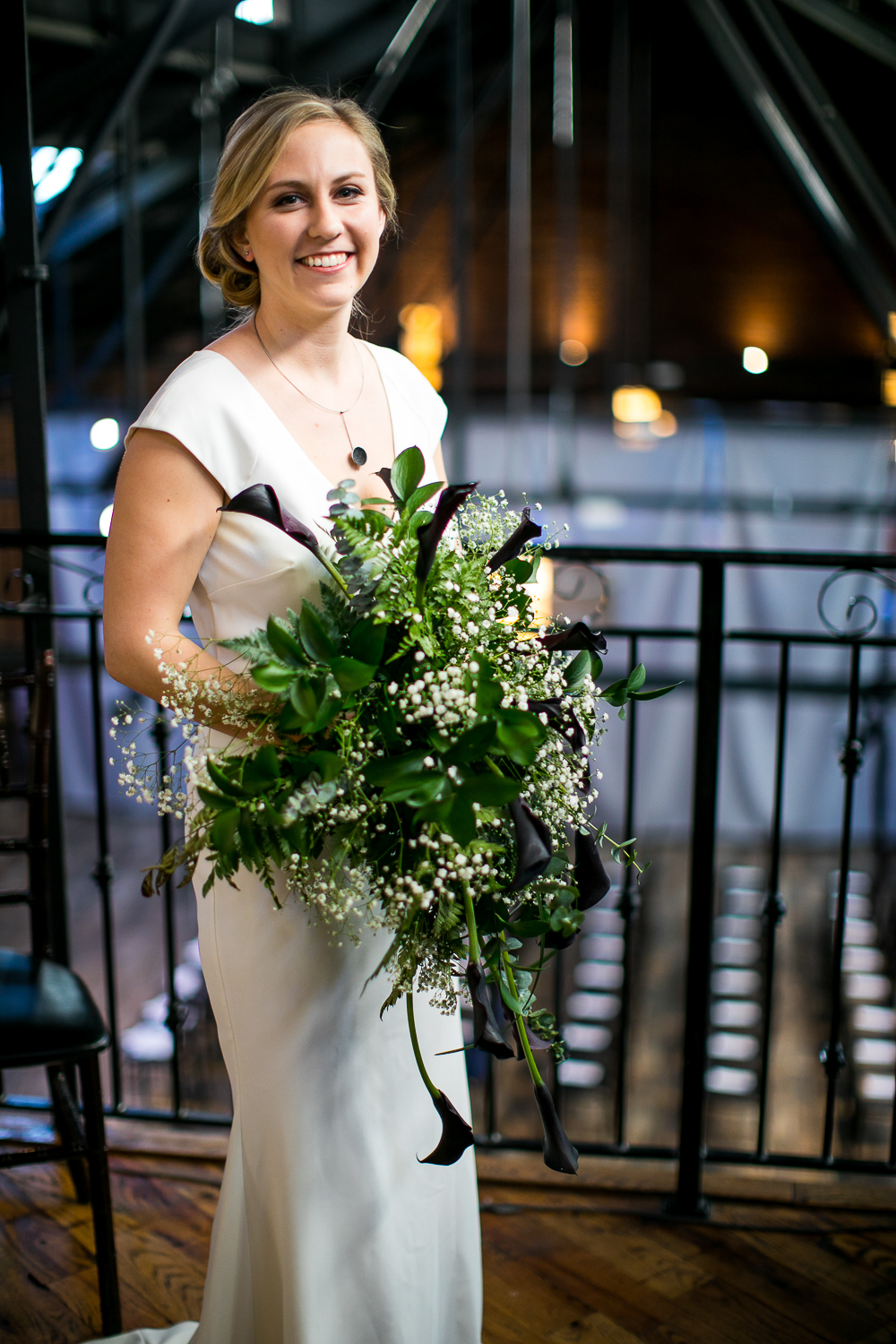 Portrait of a bride on her wedding day | 26 Bridge Wedding Photos | Lesbian Brooklyn Wedding | Kristin and Marisa's Wedding