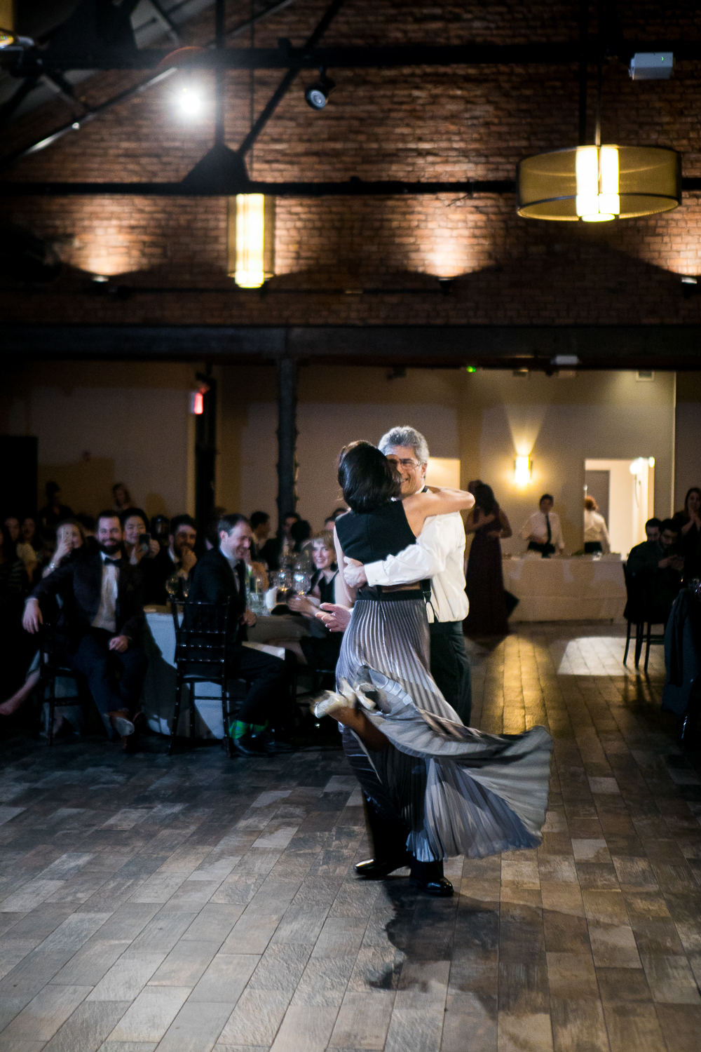 Dancing at a Brooklyn wedding reception | 26 Bridge Wedding Photos | Lesbian Brooklyn Wedding | Kristin and Marisa's Wedding