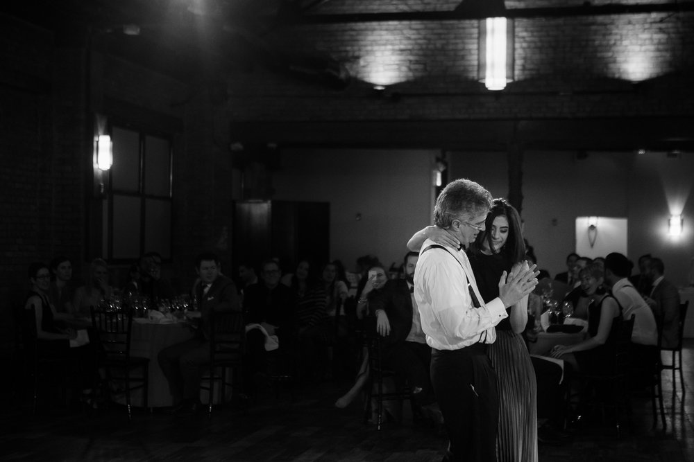 Dancing at a Brooklyn wedding reception at 26 Bridge | 26 Bridge Wedding Photos | Lesbian Brooklyn Wedding | Kristin and Marisa's Wedding