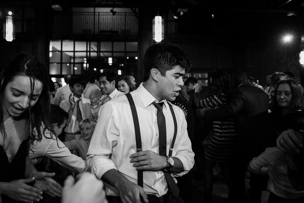 Wedding reception at 26 Bridge in Brooklyn, New York | 26 Bridge Wedding Photos | Lesbian Brooklyn Wedding | Kristin and Marisa's Wedding