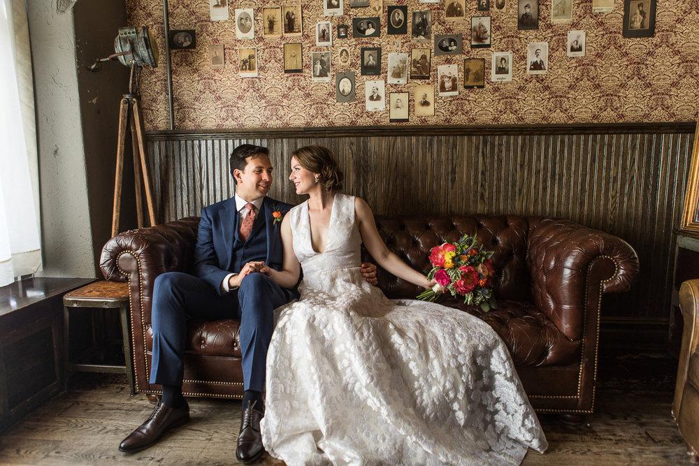 Brooklyn winery wedding portraits