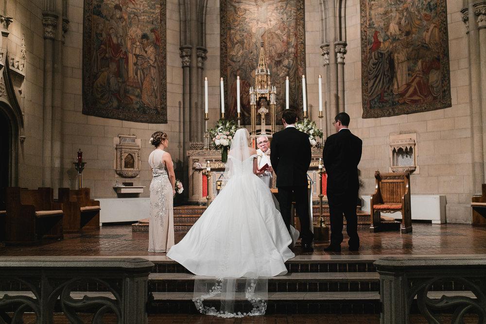 Catholic wedding ceremony.