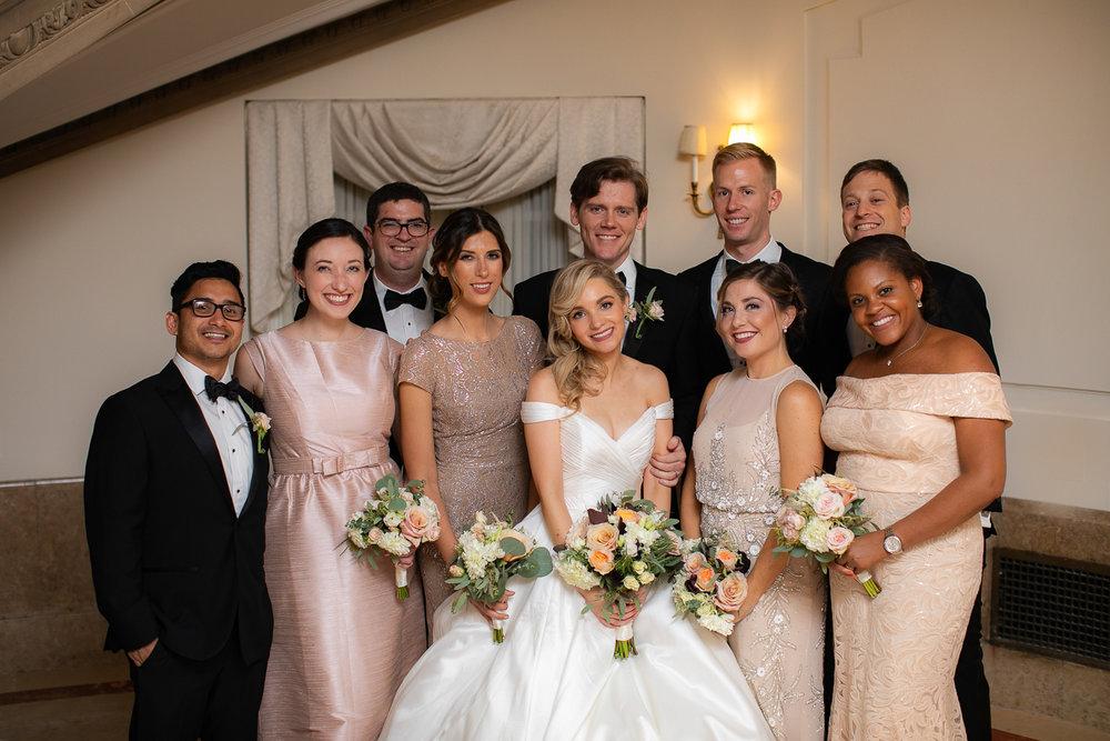 Wedding party portrait.