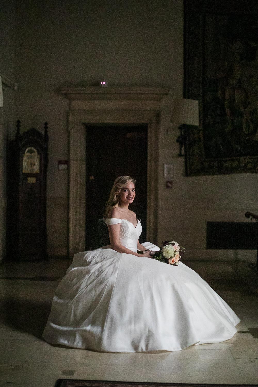 Classic bridal portrait.