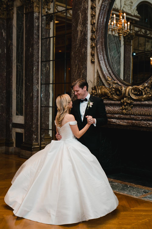 First dance at a Burden Kahn Mansion Wedding.