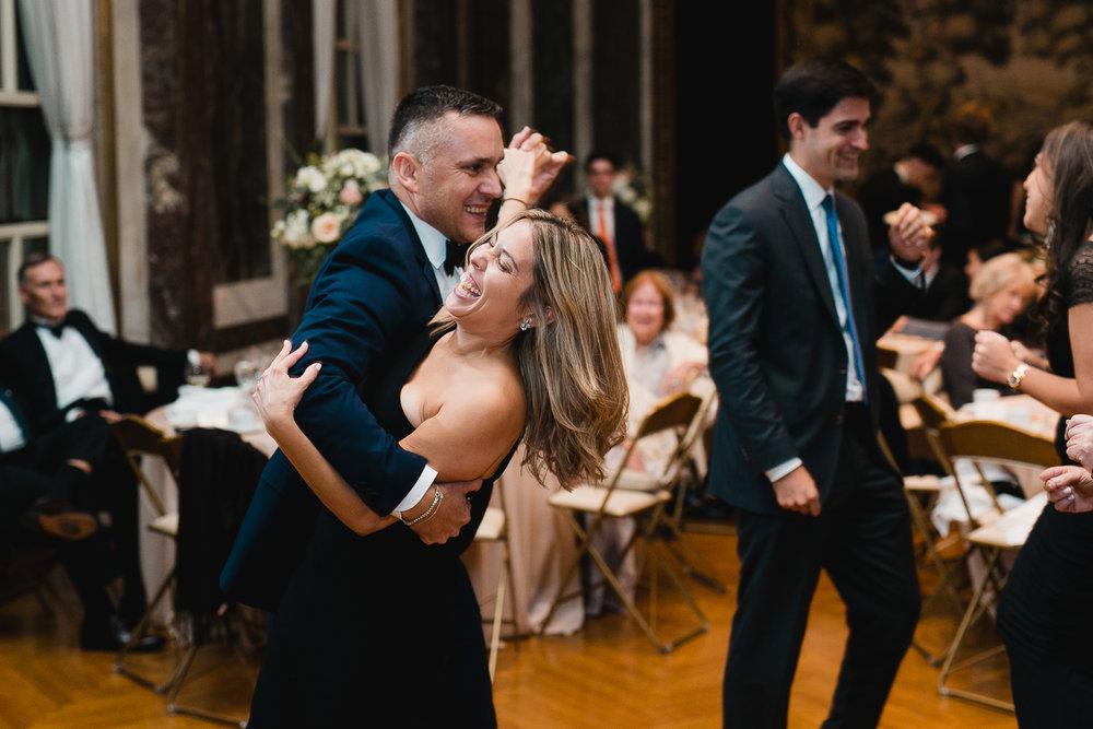 Dancing at a James Burden Mansion reception.