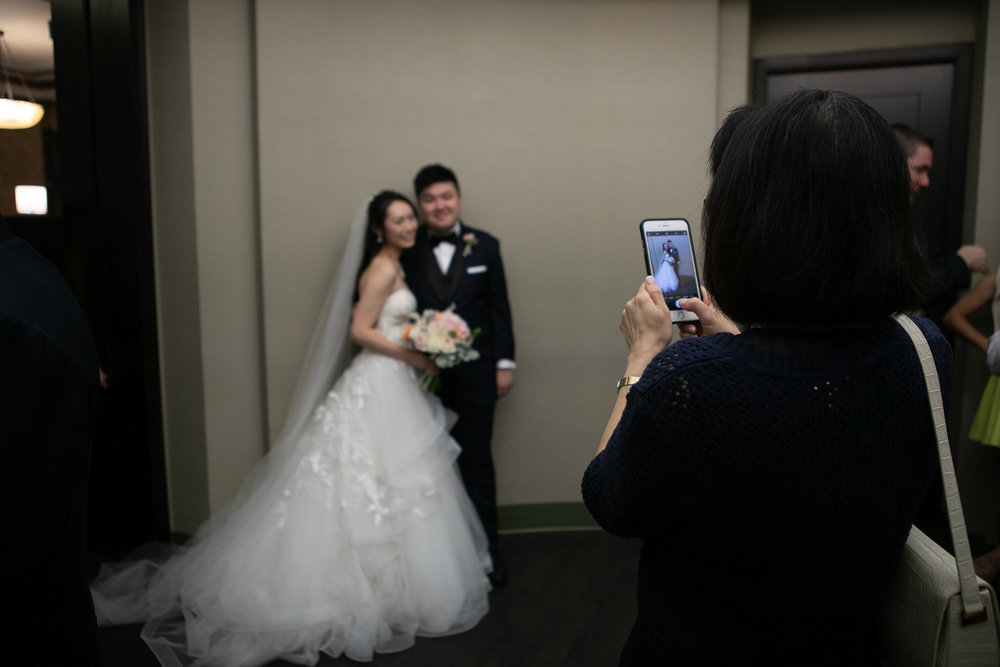 Taking photos at a City Hall New York wedding   New York City Hall Wedding Photographer   Jason and Susanna's Glam NYC Elopement