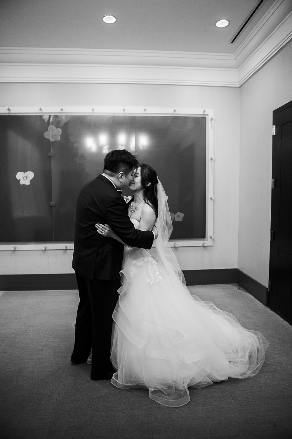 Bride and groom getting married at City Hall NYC   New York City Hall Wedding Photographer   Jason and Susanna's Glam NYC Elopement