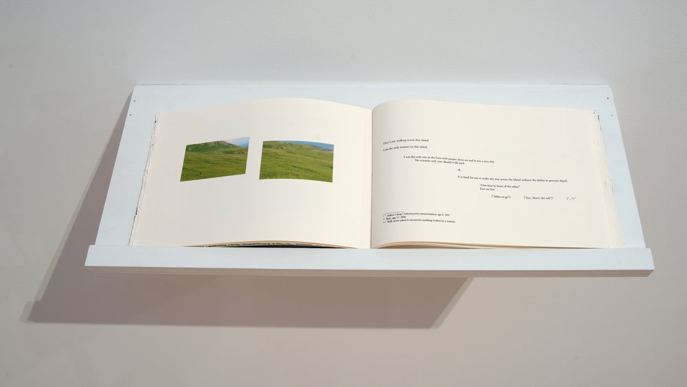 A Walk on Attu  / 38 pages, hand-bound book of documentary photography and poetry, 2017