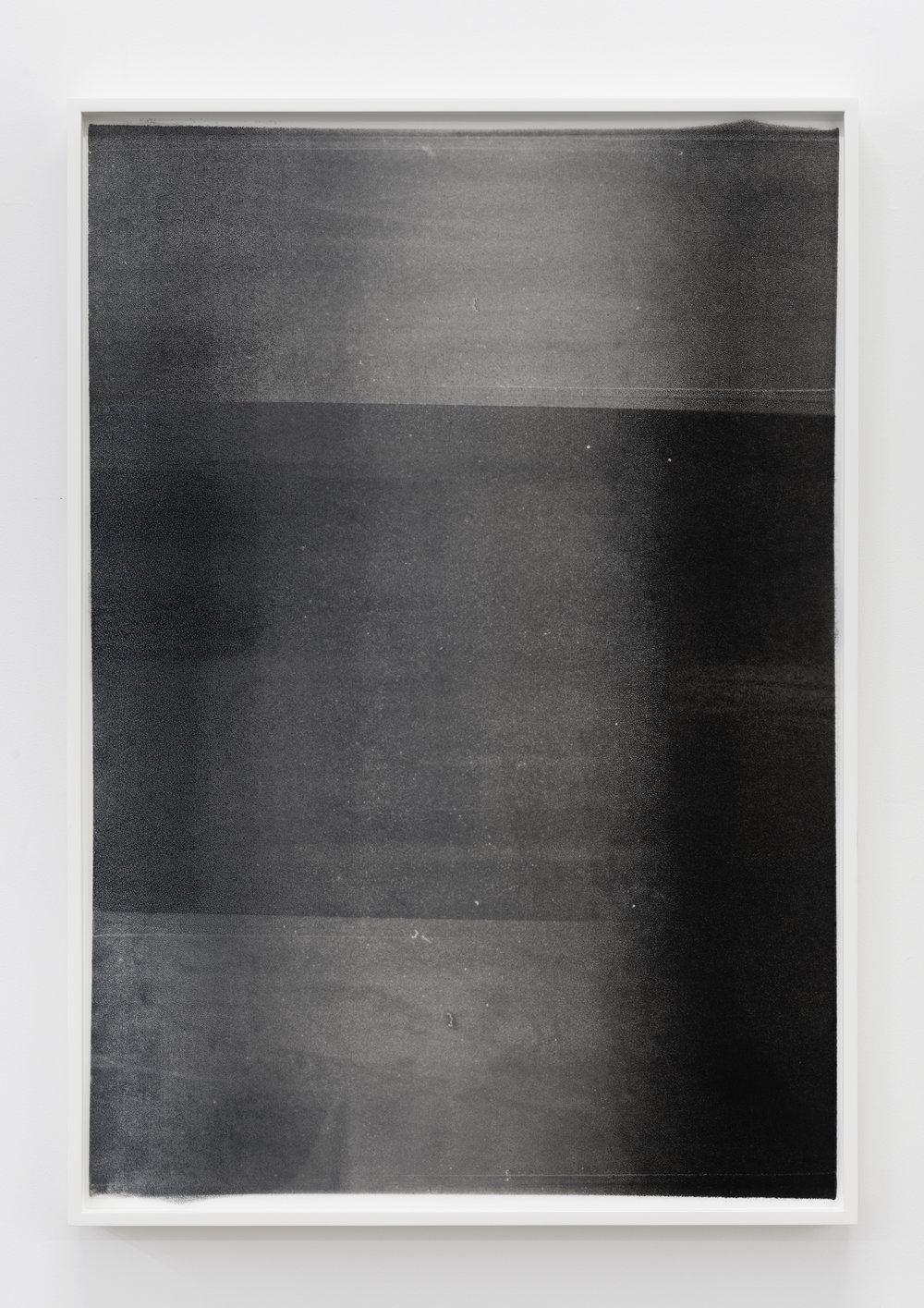 Untitled (dark glow) , Oil on Mylar, 2016, 31 x 22 inches