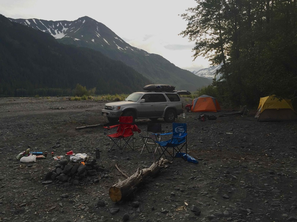 Nothing like a perfect camping spot in Alaska!