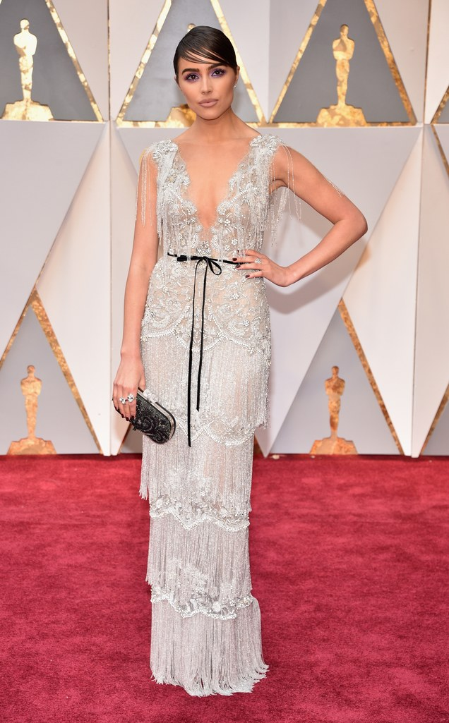 Olivia Culpo in custom Marchesa