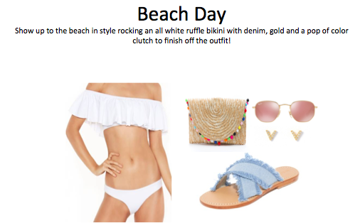 •Bikini:  http://bit.ly/2uOXdOb   •Sandals:  http://bit.ly/2tRjT2N   •Earrings:  http://bit.ly/2sKAOoC   •Bag: http://bit.ly/2sRf8SF   •Sungalsses:  http://bit.ly/2tW8iAo