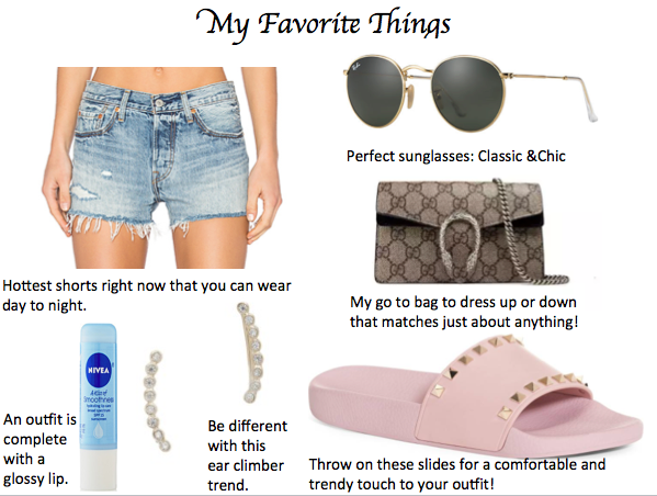 Shop my Favorites:   Shorts     Sunglasses    Bag    Slides    Earrings    Chapstick