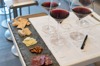 Cheese plate and wine glasses.jpg