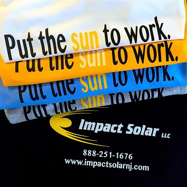 a few different silkscreened colorways of t-shirts and hoodies for Impact Solar. really excited to team up with a company from NJ looking to disrupt the solar game! ☀️💡☀️