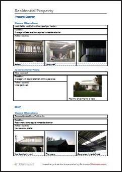 Based on the NZ standard for pre-sale housing inspections. This includes support for multiple rooms, photograph of each room, and exterior, roof and underfloor specific inspections.   Suggested Industry:   Real estate    Click for example output Word .docx