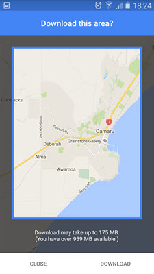 Myth busting how to use gps and google maps offline clarinspect you can pan and zoom the window around and choose how much to save gumiabroncs Choice Image