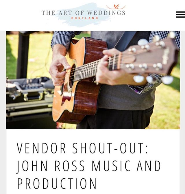 Thanks for the blog post @artofweddingspdx!! Check the link in our profile to learn more about us and read an interview with our owner John Ross!