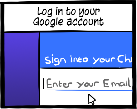In order to use your Chromebook you need a Google account and log into it.  Use your gmail account and password.