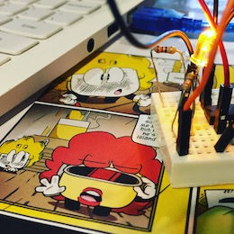 Learn by immersion with our fun comics and circuit building lessons. Great for libraries and makerspaces.