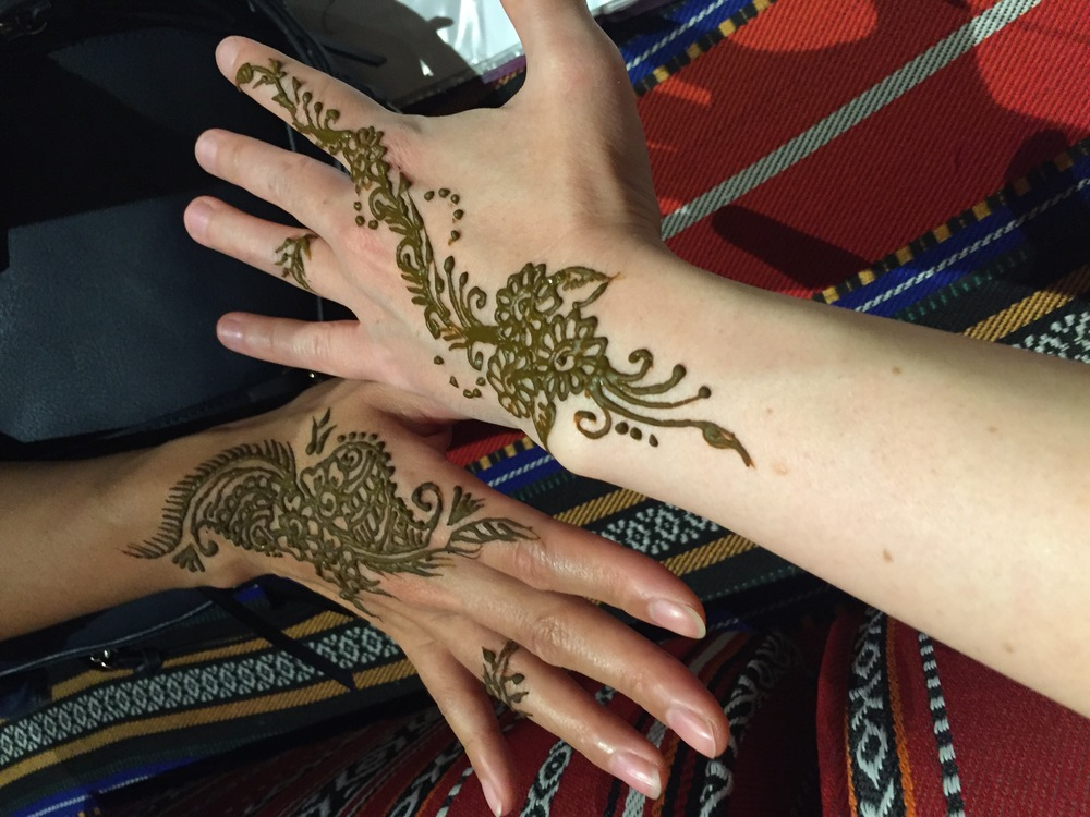 When in the U.A.E., you henna / Dubai
