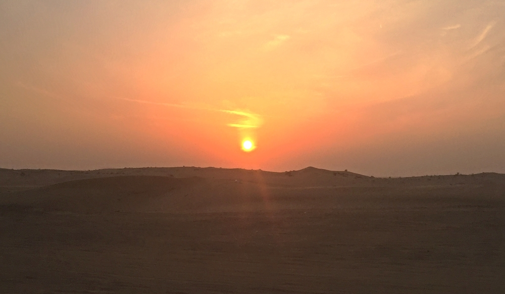 Sunset over the Dubai desert / Dubai