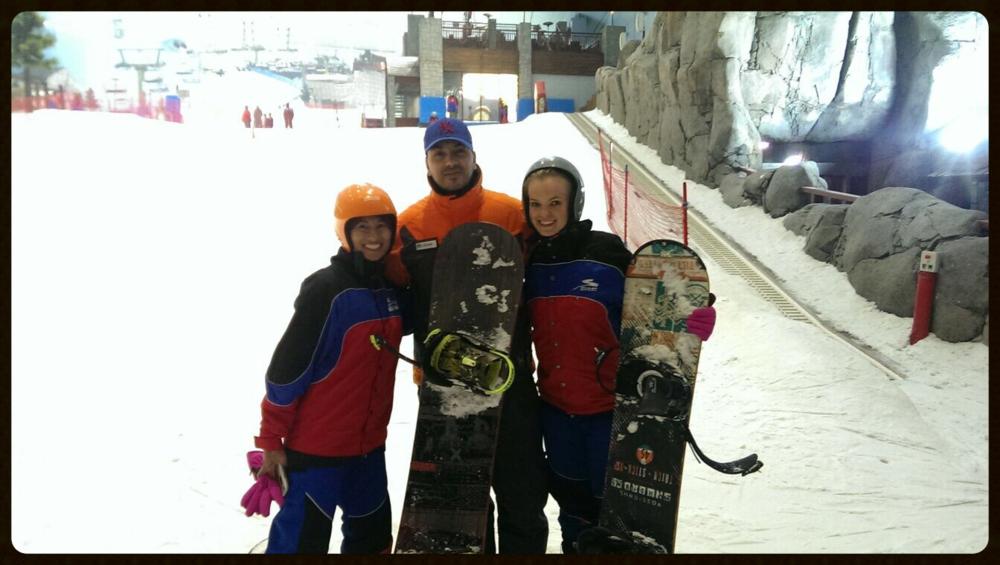 Snowboarding @Ski Dubai / Dubai