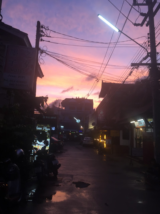 Look at that sunset! Chiang Mai, Thailand