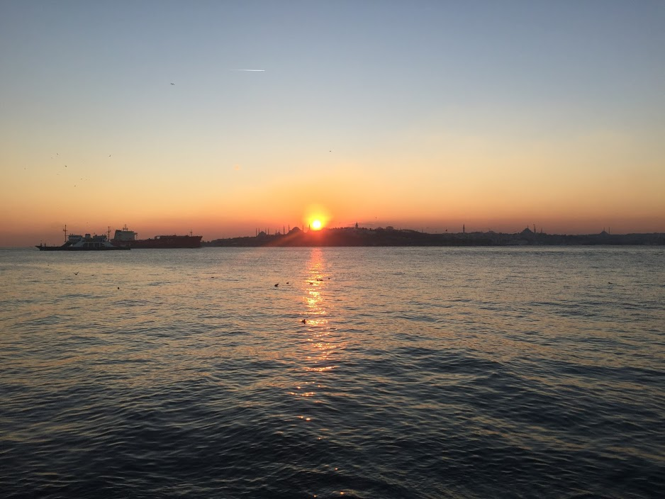 Sunset over the Bosphorus Strait