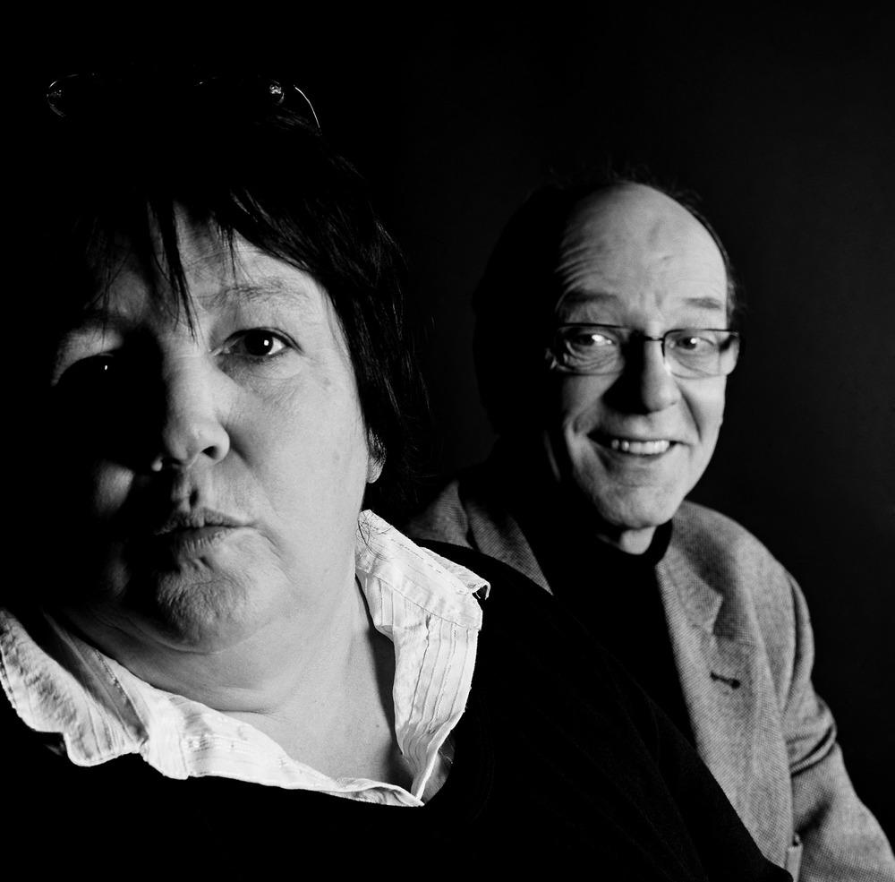 La comédienne Huguette Dreikaus et le primatologue Nicolas Herrenschmidt
