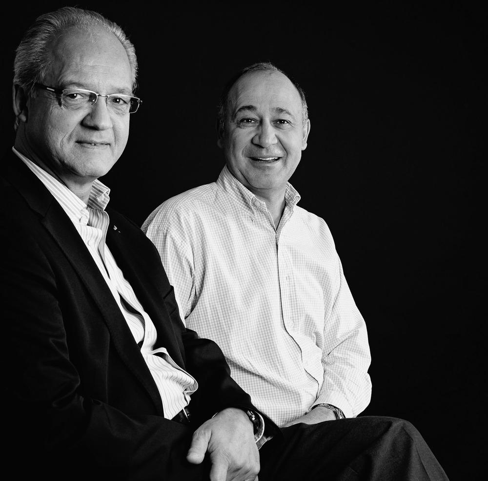 Le Professeur Jacques Marescaux, chirurgien, et le Chef cuisinier de « l'Auberge de l'Ill » à Illhaeusern, Marc Haeberlin
