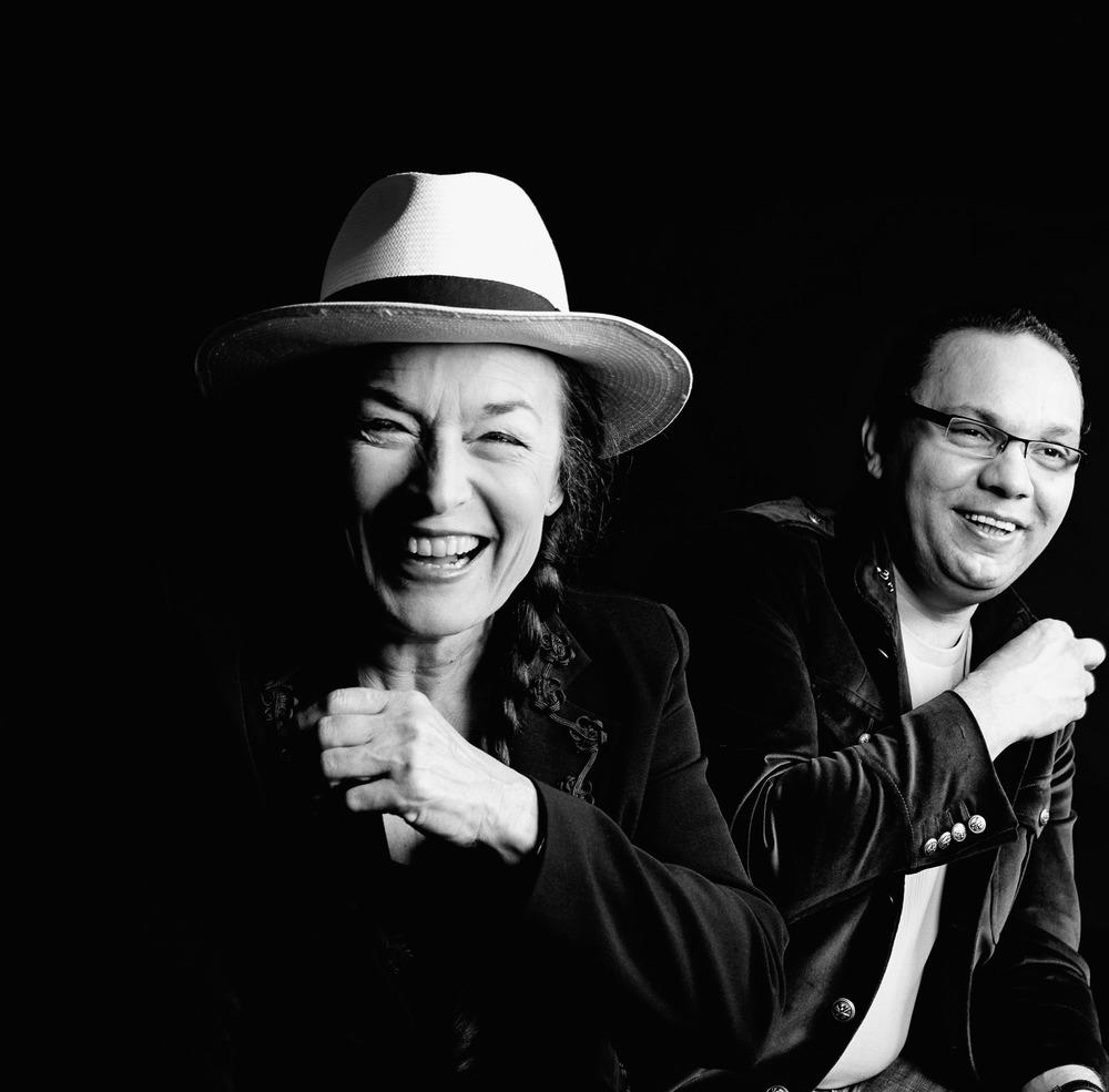 La journaliste, animatrice culinaire Simone Morgenthaler et le jazzman Biréli Lagrène