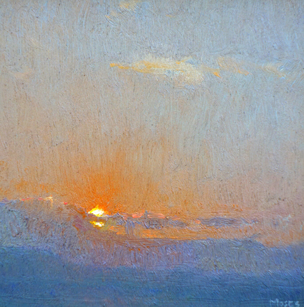 """Island Sunset"" / 6""x6"" / Oil on Canvas Panel Private Collection"
