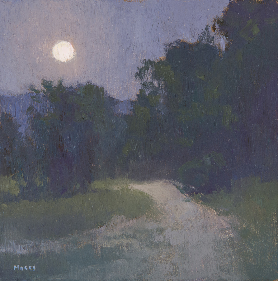 """Harvest Moon"" / 6""x6"" / Oil on Canvas Panel Private Collection"