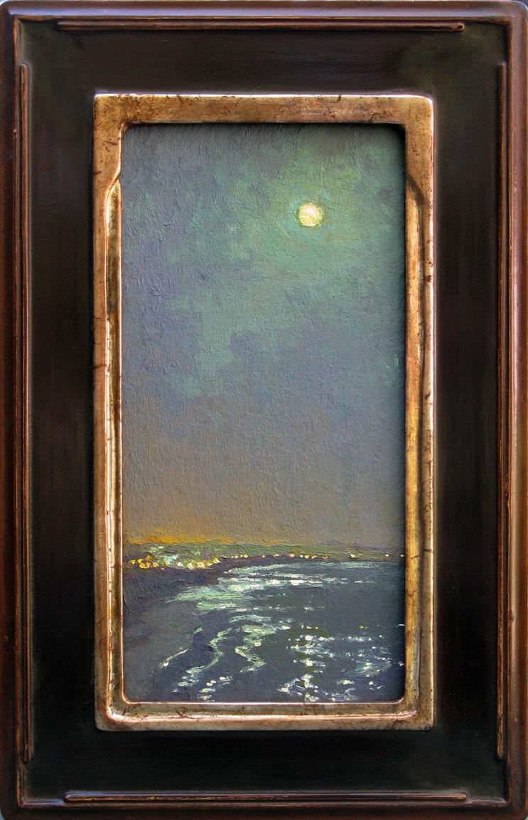 """""""Moonlight, Ventura"""" / 12"""" x 6"""" /Laurel Variation / Moon Gold"""