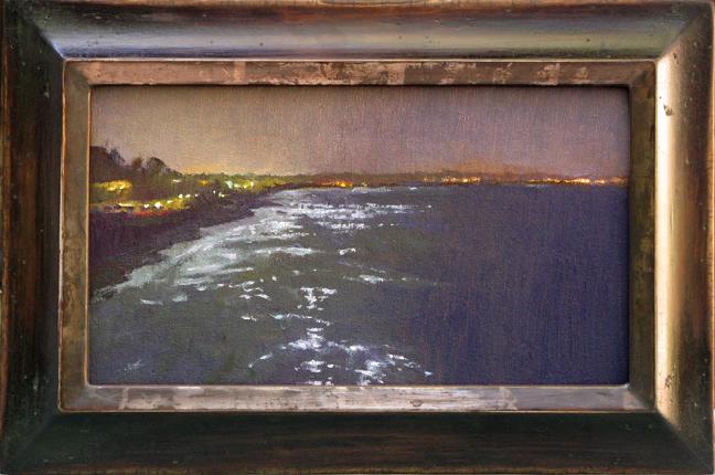 """From the Pier"" / 6,75"" x 12"" / Alvarado with Lemon Gold"