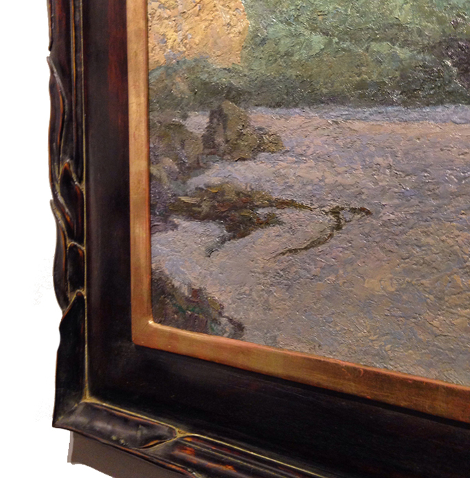 Mahogany Frame / Seaweed Carve / Moon Gold