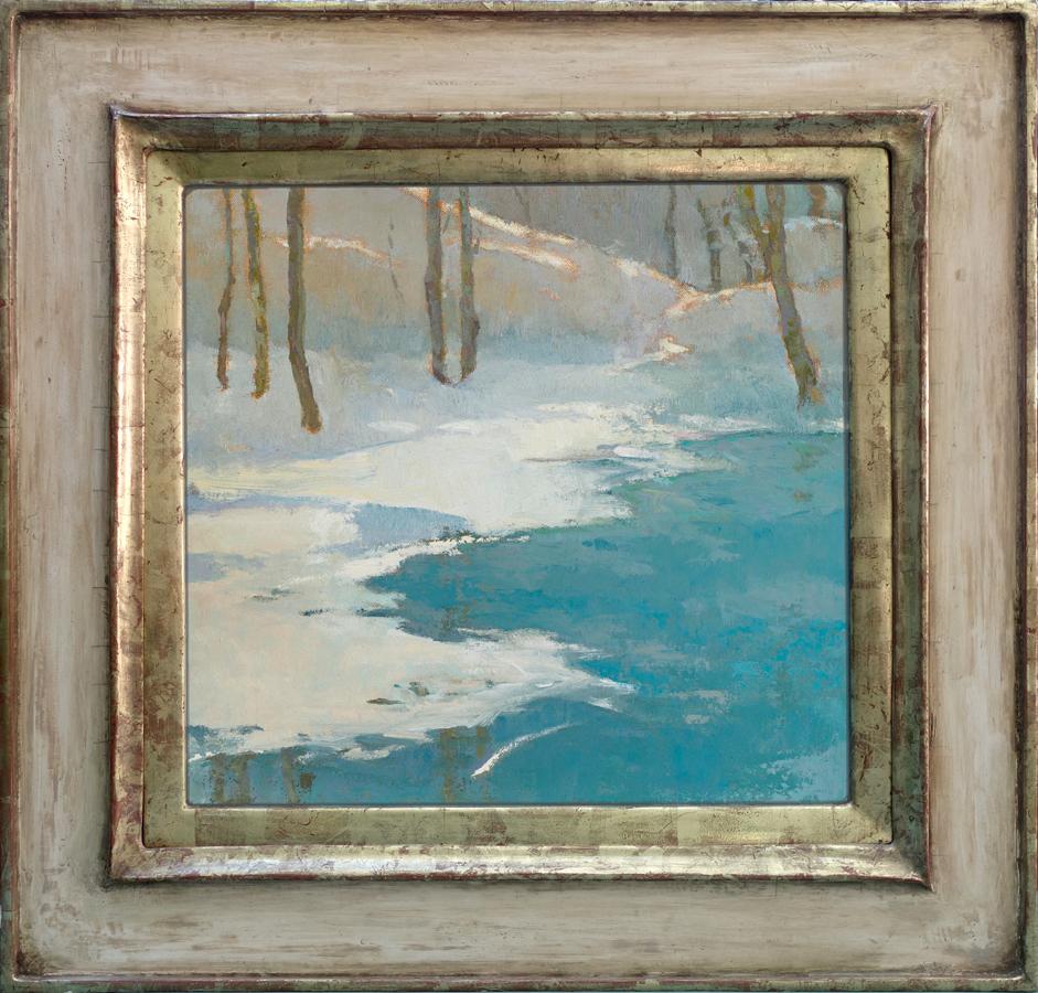 winter's abundance / 16x17 / oil on canvas panel