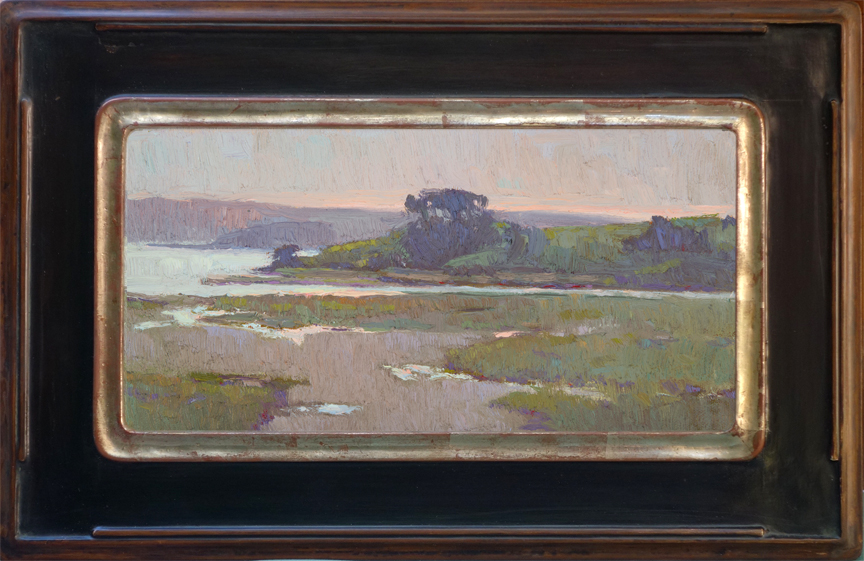 """Dusk, Tomalas Bay"" / 6x12 Featured on the Miniature Wall of the CAC 105th Annual Juried Gold Medal Exhibition."