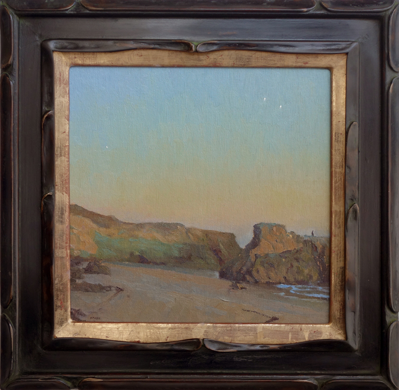 dusk, leo carrillo / 12 x 12 inches
